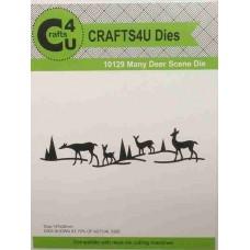 Crafts4U Die Many Deer Scene 10129