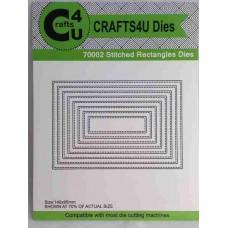 Crafts4U Die Stitched Rectangles (8 dies) 70002