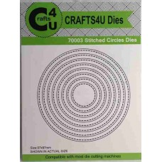Crafts4U Die Stitched Circles (8 dies) 70003