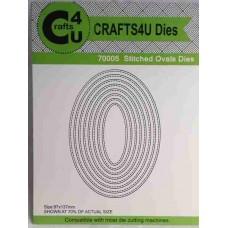Crafts4U Die Stitched Ovals (8 dies) 70005
