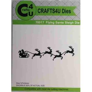 Crafts4U Die Flying Santa Sleigh 70017