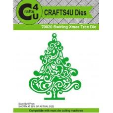 Crafts4U Die Swirling Xmas Tree 70020