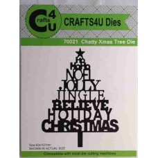 Crafts4U Die Chatty Xmas Tree 70021