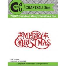 Crafts4U Die Reindeer Merry Christmas 70022