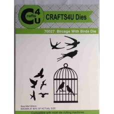 Crafts4U Die Birdcage with Birds (9 dies) 70027
