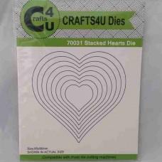 Crafts4U Die Stacked Hearts (8 dies) 70031