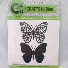 Crafts4U Die Mable Butterfly Medium (2 dies) 70034