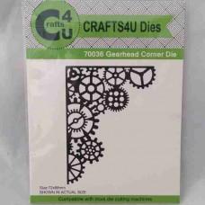 Crafts4U Die Gearhead Corner 70036