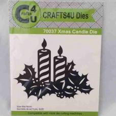 Crafts4U Die Xmas Candle 70037