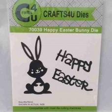 Crafts4U Die Happy Easter Bunny 70039
