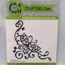 Crafts4U Die Butterfly Corner 70052