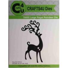 Crafts4U Die Large Regal Reindeer 70055