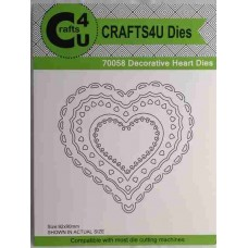 Crafts4U Die Decorative Heart (5 dies) 70058