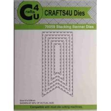 Crafts4U Die Stacking Banner (5 dies) 70059