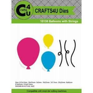 Crafts4U Die Balloons with Strings (9 dies) 10138