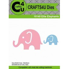 Crafts4U Die Ellie Elephants (2 dies) 10145