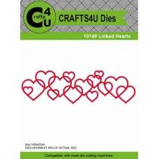 Crafts4U Die Linked Hearts 10149