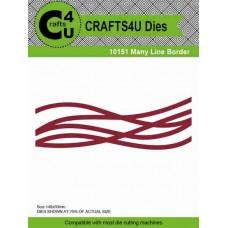 Crafts4U Die Many Line Border 10151