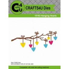 Crafts4U Die Hanging Hearts 10163