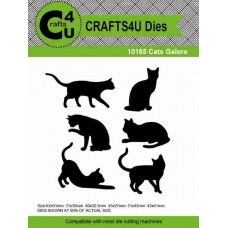 Crafts4U Die Cats Galore (6 dies) 10165