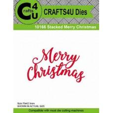 Crafts4U Die Stacked Merry Christmas 10166