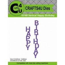 Crafts4U Die Vertical Happy Birthday (2 dies) 10169