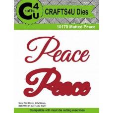 Crafts4U Die Matted Peace (2 dies) 10170