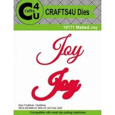 Crafts4U Die Matted Joy (2 dies) 10171