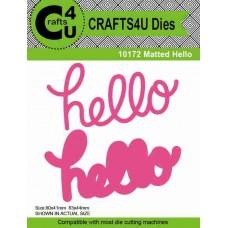 Crafts4U Die Matted Hello (2 dies) 10172