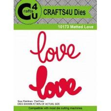 Crafts4U Die Matted Love (2 dies) 10173