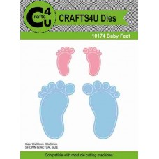 Crafts4U Die Baby Feet (4 dies) 10174