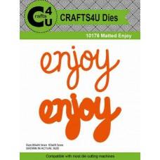 Crafts4U Die Matted Enjoy (2 dies) 10176