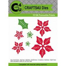 Crafts4U Die Poinsettia Petals (7 dies) 10186
