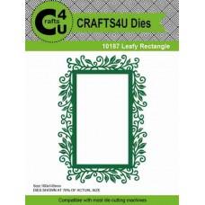 Crafts4U Die Leafy Rectangle 10187