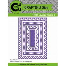 Crafts4U Die Layered Frame 3 (4 dies) 10197