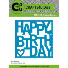 Crafts4U Die Birthday Square 10201