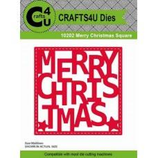 Crafts4U Die Merry Christmas Square 10202