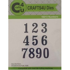 Crafts4U Numbers Die (10 Dies) 10213