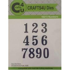 Crafts4U Numbers Die (10 Dies) 10213