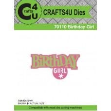 Crafts4U Die Birthday Girl (2 Dies) 70110