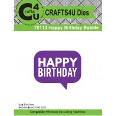 Crafts4U Die Happy Birthday Bubble 70113