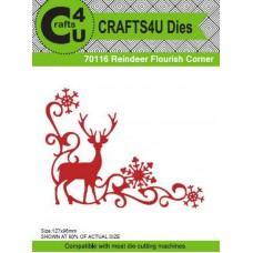 Crafts4U Die Reindeer Flourish Corner 70116