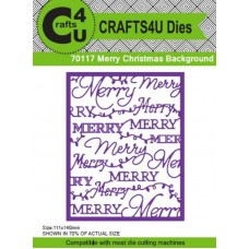 Crafts4U Die Merry Christmas Background 70117