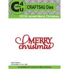 Crafts4U Die Joined Merry Christmas 70118