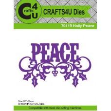 Crafts4U Die Holly Peace 70119