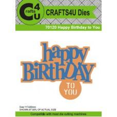 Crafts4U Die Happy Birthday to You (2 Dies) 70120