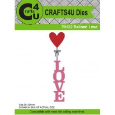 Crafts4U Die Balloon Love 70122