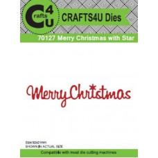 Crafts4U Die Merry Christmas with Star 70127