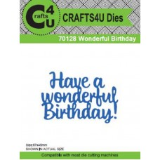 Crafts4U Die Wonderful Birthday 70128
