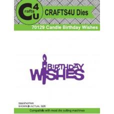 Crafts4U Die Candle Birthday Wishes 70129